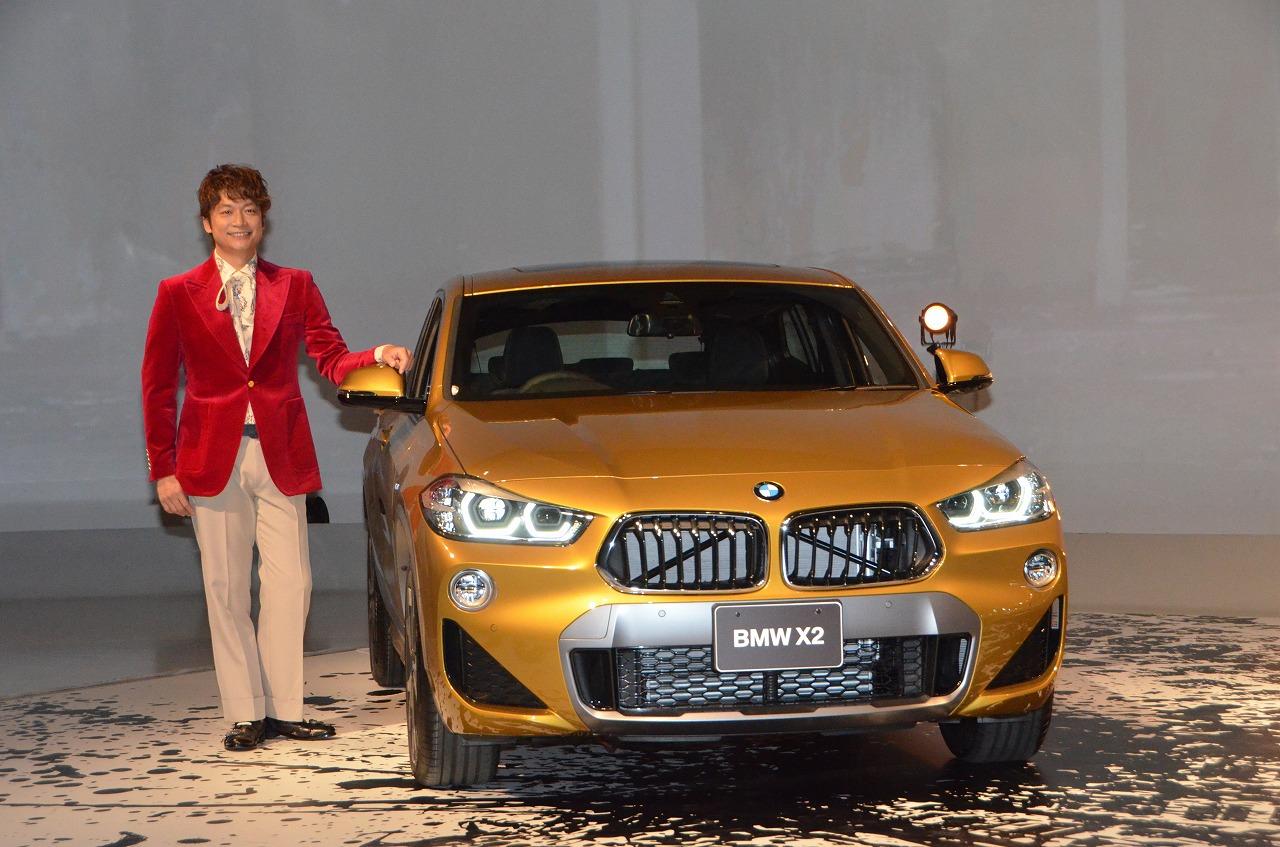BMW X2デビュー、BMWフレンドに香取慎吾就任