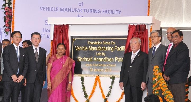 スズキ、インドのグジャラート州新工場の定礎式を実施