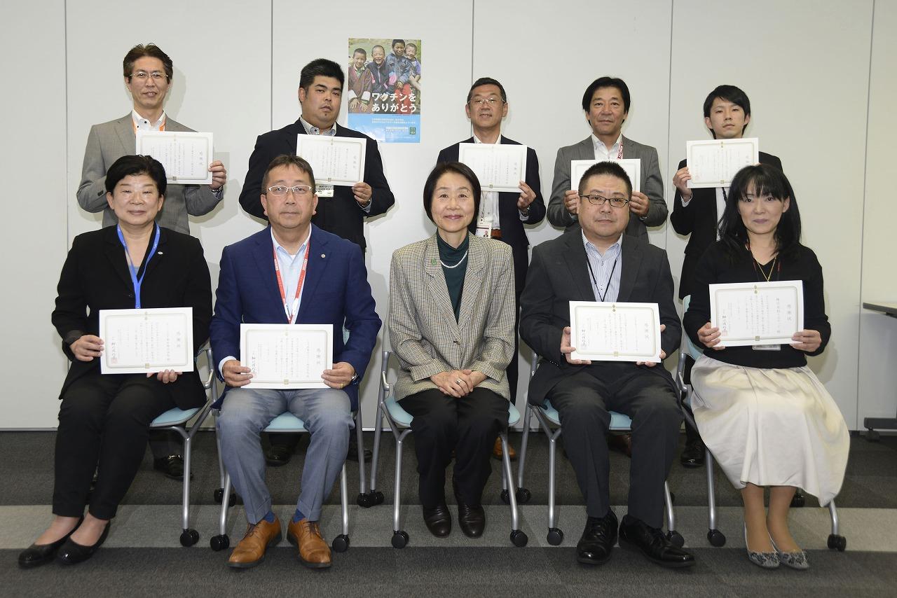 トヨタ東京販売ホールディングス、ペットボトルキャップ等の収益金でポリオワクチンを寄付